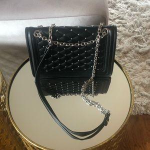 Zara studded black handbag